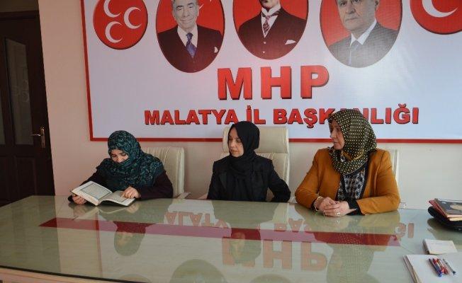 MHP'li kadınlar şehitler için mevlit okuttu