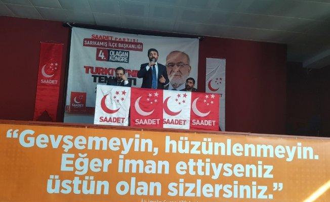 Saadet Partisi Sarıkamış 4. olağan ilçe kongresi yapıldı