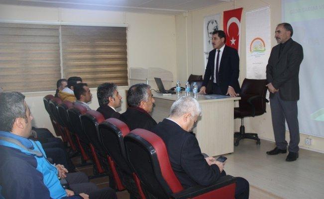 Tunceli'de Afet Mücadele Planı eğitimi