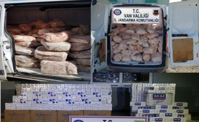 Van'da 1 ton 758 kilo hayvansal iç yağ ele geçirildi