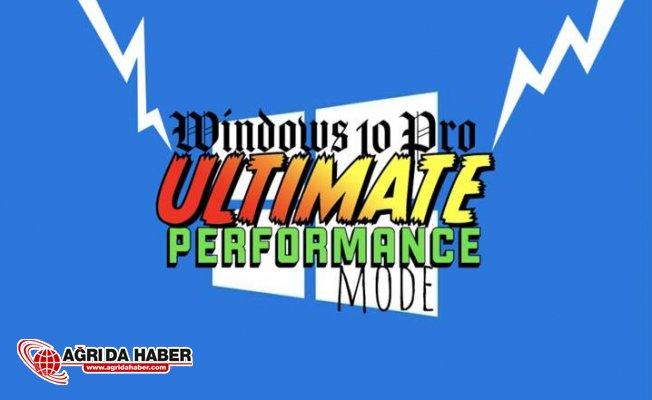 Windows 10'lar İçin Ultimate Performance Modu