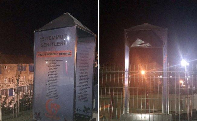 15 Temmuz Şehitler Anıtı'na çirkin saldırı
