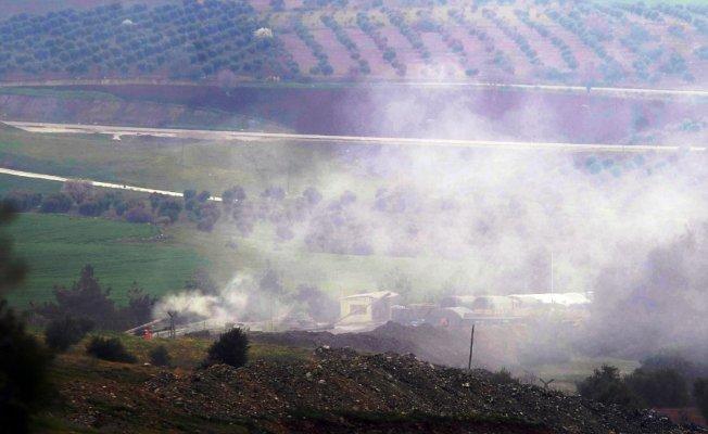 Afrin ve çevresindeki YPG hedefleri top atışına tutuldu