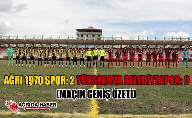Ağrı 1970 Spor: 2 Yüksekova Belediyespor: 0 (Geniş Özet)