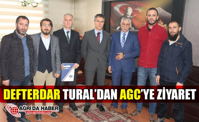 Ağrı Defterdarı Mehmet Tural'dan Ağrı Gazeteciler Cemiyeti'ne Ziyaret
