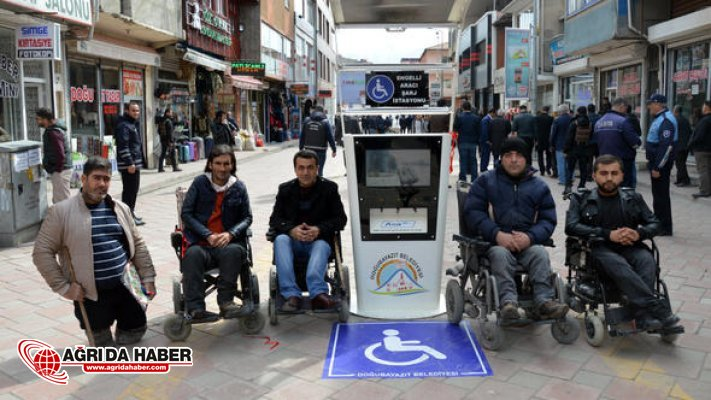 Doğubayazıt Belediyesinden Engellilere Akülü Araçlarını Şarj etme istasyonu