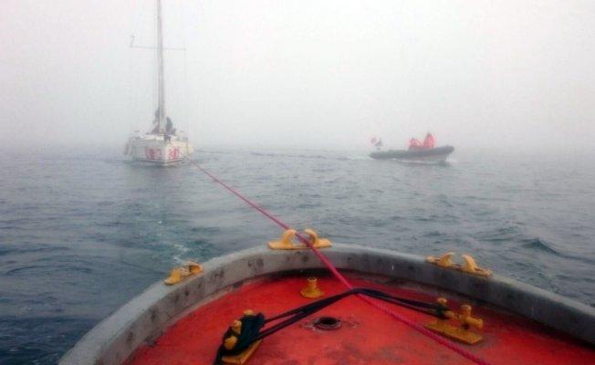 Heybeliada açıklarında arıza yapan teknede 6 kişi mahsur kaldı
