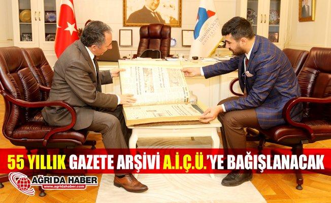 Mesuliyet Gazetesinin 55 Yıllık Arşivi A.İ.Ç.Ü.'ye Bağışlanacak