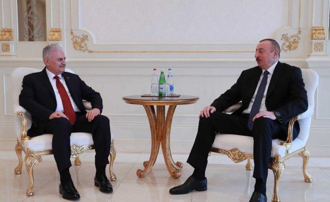 Yıldırım Azerbaycan Cumhurbaşkanı Aliyev'le görüştü