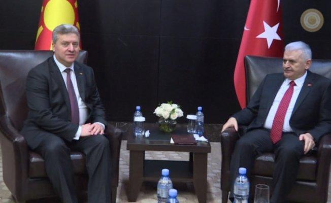 Yıldırım, Makedonya Cumhurbaşkanı Ivanov ile görüştü