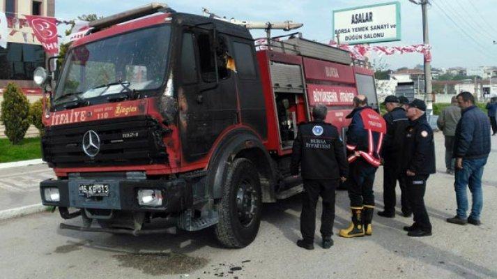 Yangını Söndürmeye Çalışan İtfaiye Aracı Alev Aldı!