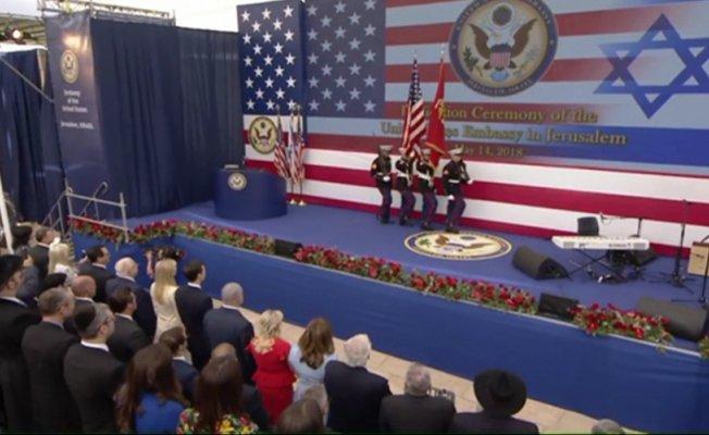 ABD, katliamın gölgesinde Kudüs'te büyükelçiliğini açtı