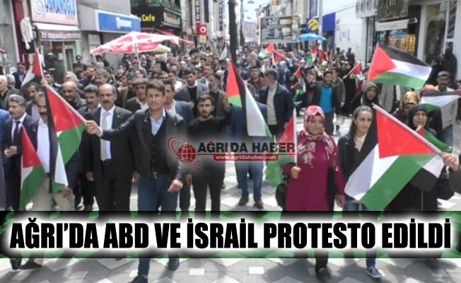 Ağrı'da İsrail ve ABD Protesto Edildi