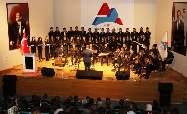 Ağrı İbrahim Çeçen Üniversitesi'nde Türk Sanat Müziği Konseri Yapıldı