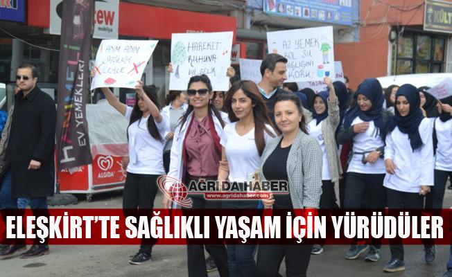 Eleşkirt'te Sağlıklı Yaşam İçin Yürüyüş Yapıldı