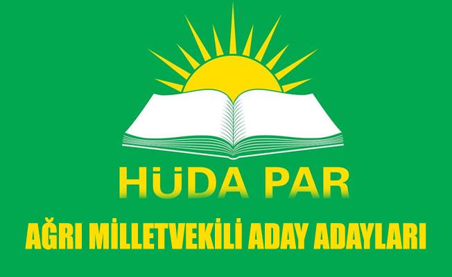 HÜDA PAR Ağrı Milletvekili Aday Adayı Tam Listesi 2018