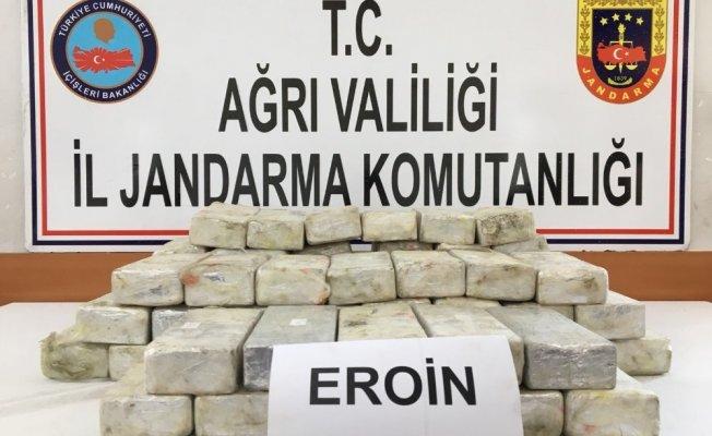 Ağrı'da 37 Kilo Eroin Ele Geçirildi!