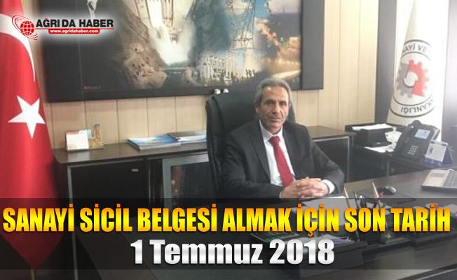 Ağrı Bilim, Sanayi ve Teknoloji İl Müdürü Murat İBİK İmalatçılara Uyarı