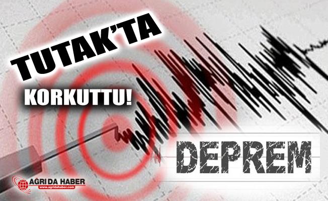 Ağrı'nın Tutak İlçesinde Deprem