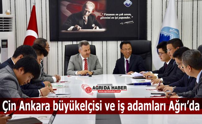 Çin Ankara Büyük elçisi İş adamlarından oluşan bir heyetle Ağrı'da