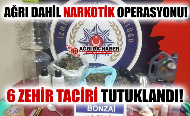 Hava Destekli Eş zamanlı Narkotik Operasyonu! 6 Kişi Tutuklandı