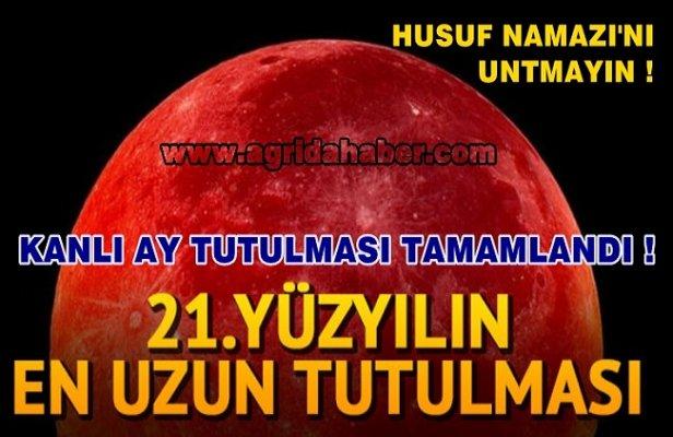 Kanlı Ay Tutulması ne zaman tamamlanacak! Husuf Namazı Nedir  kaç rekattır