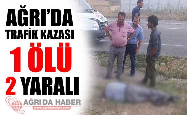 Ağrı'nın Doğubayazıt İlçesinde Trafik Kazası 1 Ölü 2 Yaralı!