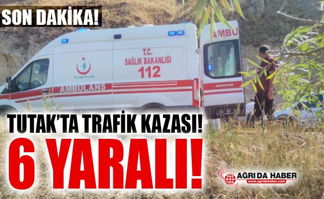 Ağrı Tutak'ta Trafik Kazası! 6 Kişi Yaralandı!
