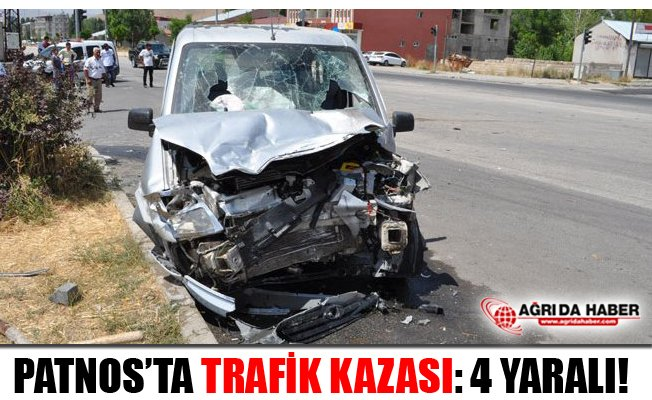 Patnos'ta Trafik Kazası 4 Yaralı!