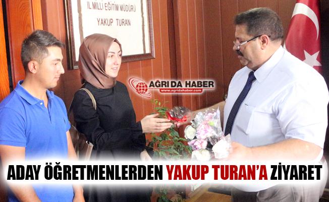 Aday Öğretmenlerden Milli Eğitim Müdürü Yakup Turan'a Ziyaret