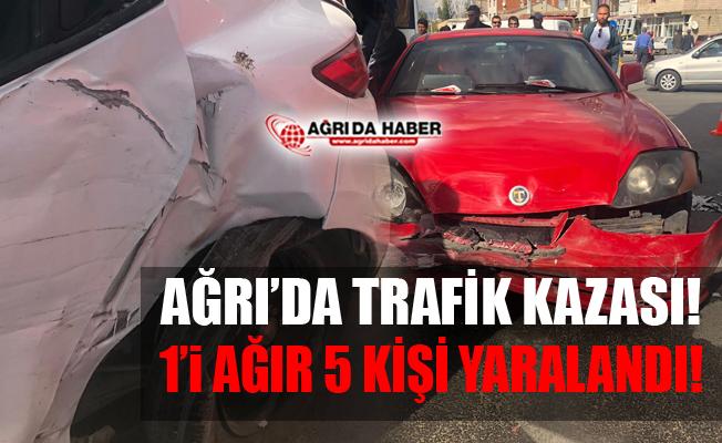 Ağrı'da Trafik Kazası! 1'i Ağır 5 Yaralı!