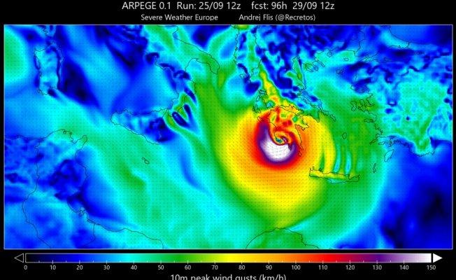 Ege'ye Kritik Kasırga Uyarısı! Tropical Medicane Geliyor!