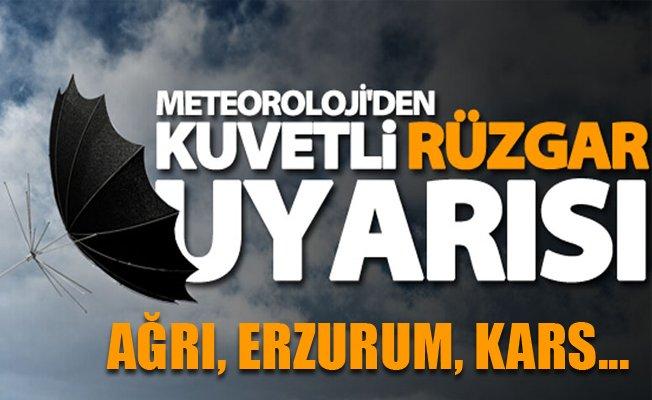 Meteoroloji'den Erzurum, Kars ve Ağrı için Uyarı!