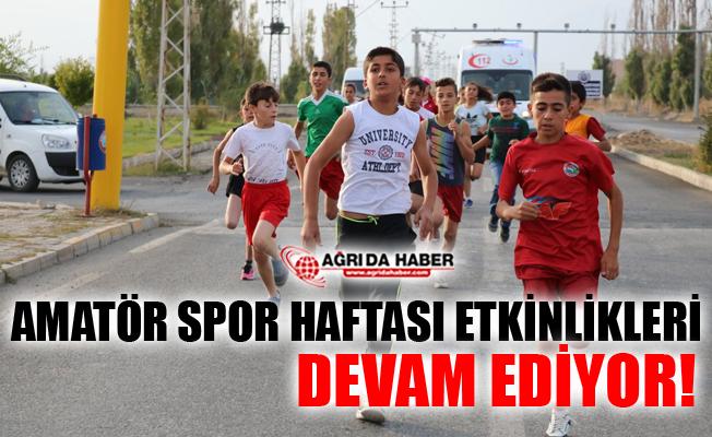 Ağrı'da Amatör Spor Haftası Etkinlikleri Devam Ediyor