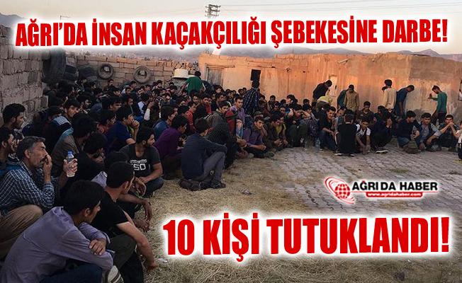 Ağrı'da Göçmen Kaçakçılarına Darbe! 10 Tutuklama!