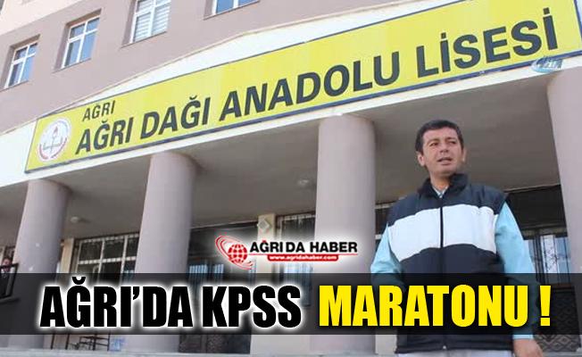 Ağrı'da Ortaöğretim Kamu Personeli Seçme Sınavı Maratonu