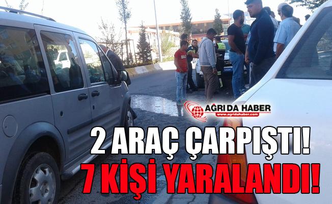 Ağrı'da Trafik Kazası (İki Otomobil Çarpıştı) 7 Yaralı!