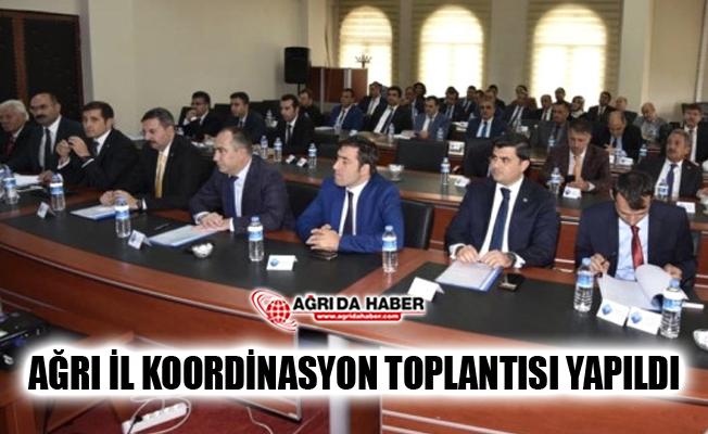 Ağrı İl Koordinasyon Toplantısı Vali Süleyman Elban Başkanlığında Yapıldı