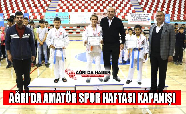 Ağrı'da Amatör Spor Haftası Kapanış Töreni Yapıldı