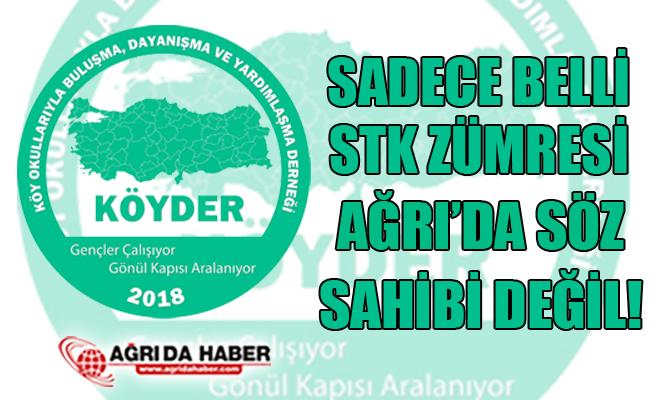 """KÖYDER: """"Sadece Belli STK Zümresi Ağrı'nın Söz Sahibi Değildir!"""""""