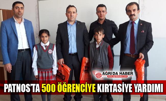 Patnos'ta 500 Öğrenciye Kırtasiye Yardımı