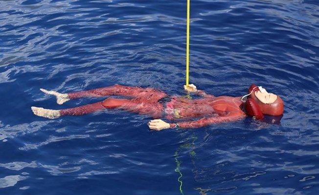 Şahika Salda Gölün'de Rekor Deniyor