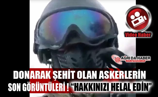 Tunceli'de Donarak şehit olan askerin çektiği son video!