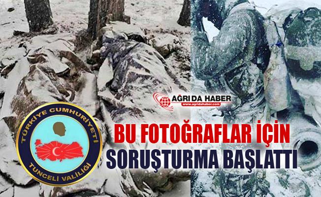 Tunceli Valiliği Donarak Şehit olan 2 Askere ait olmayan fotoğrafa soruşturma başlattı