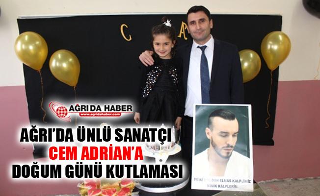 Ağrı'da Köy Okulları Yardım Projesi Destekçisi Cem Adrian'a Kutlama