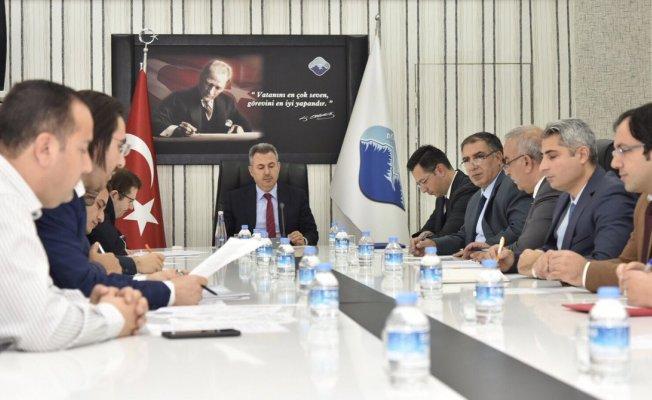 Ağrı'da OSB Yönetim Kurulu Toplantısı Vali Elban Başkanlığında yapıldı