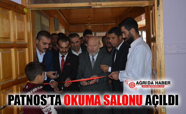 Ağrı Patnos'ta Okuma Salonu Açıldı