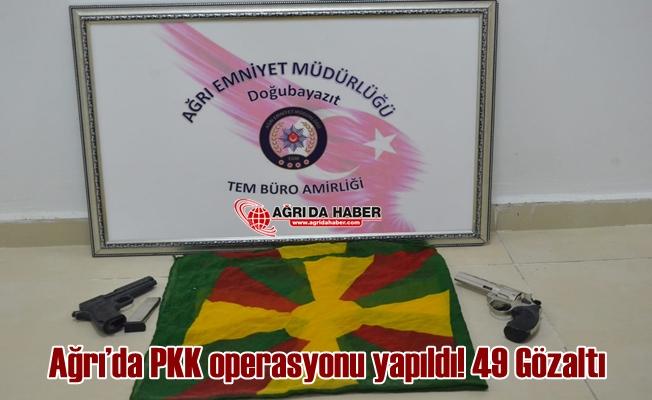 Ağrı'da PKK Operasyonu Gerçekleşti 49 Kişi Gözaltına Alındı