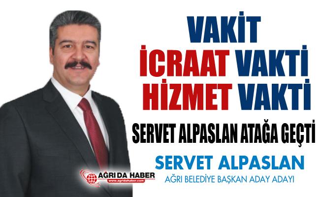 AK Parti Ağrı Belediye Başkan Aday Adayı Servet Alpaslan Hızlı Başladı