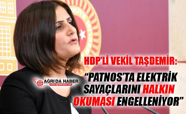 HDP Ağrı Milletvekili Taşdemir'den Patnos'taki Elektrik Sayaçları açıklaması